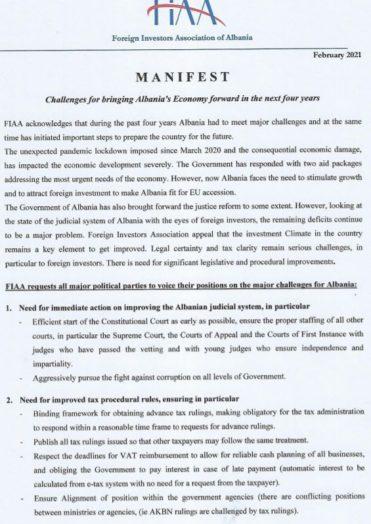 FIAA Manifest